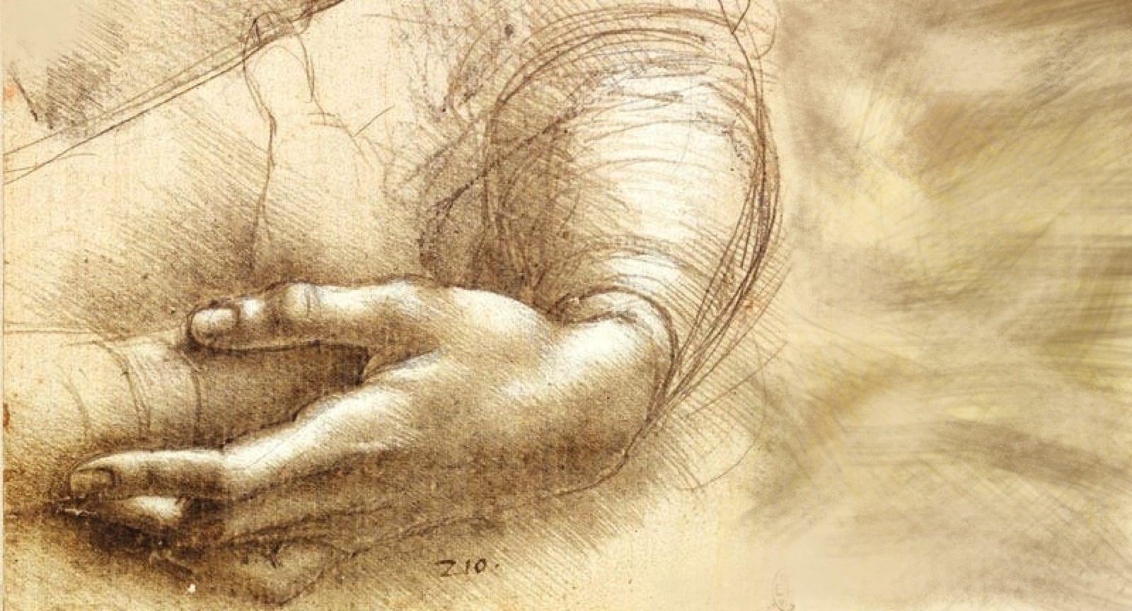Una mano si un adulto che ascolta e tocca una mano di un bambino