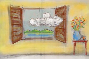 L'orizzonte visto da una finestra