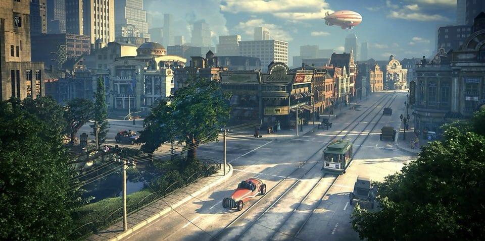 Città con macchine e tram e grattacieli che rappresenta il girare a vuoto e essere disorientati
